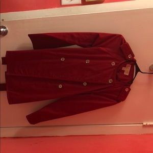 Like new Michael Kors red trench size small